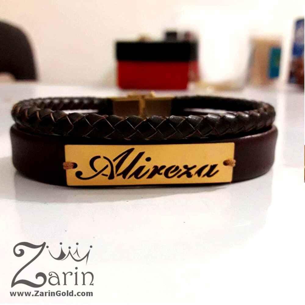 دستبند-چرم-طلا