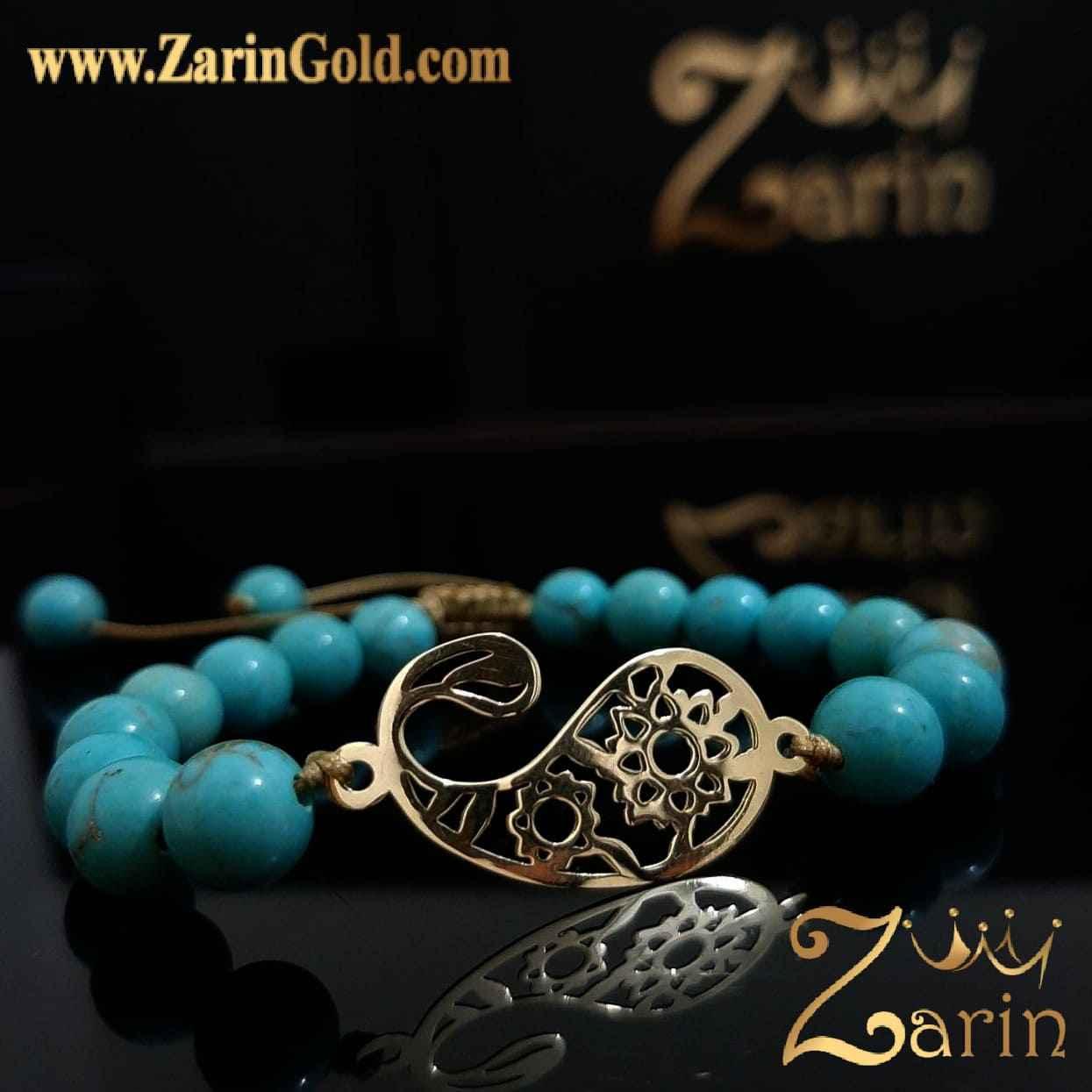 دستبند طلا طرح با سنگ