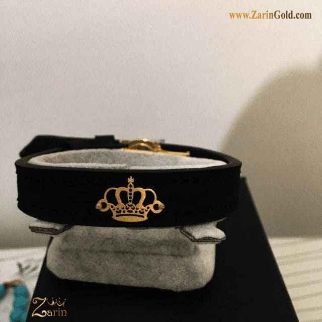 دستبند طلا طرح تاج
