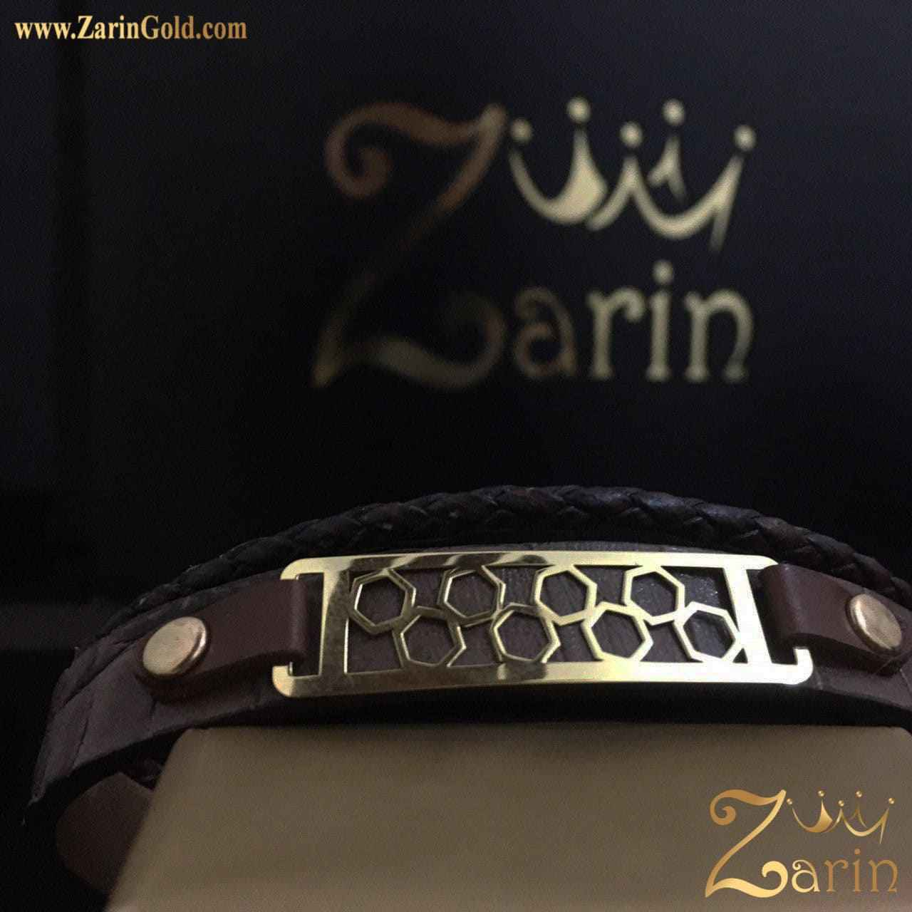 دستبند طلا طرح هندسی