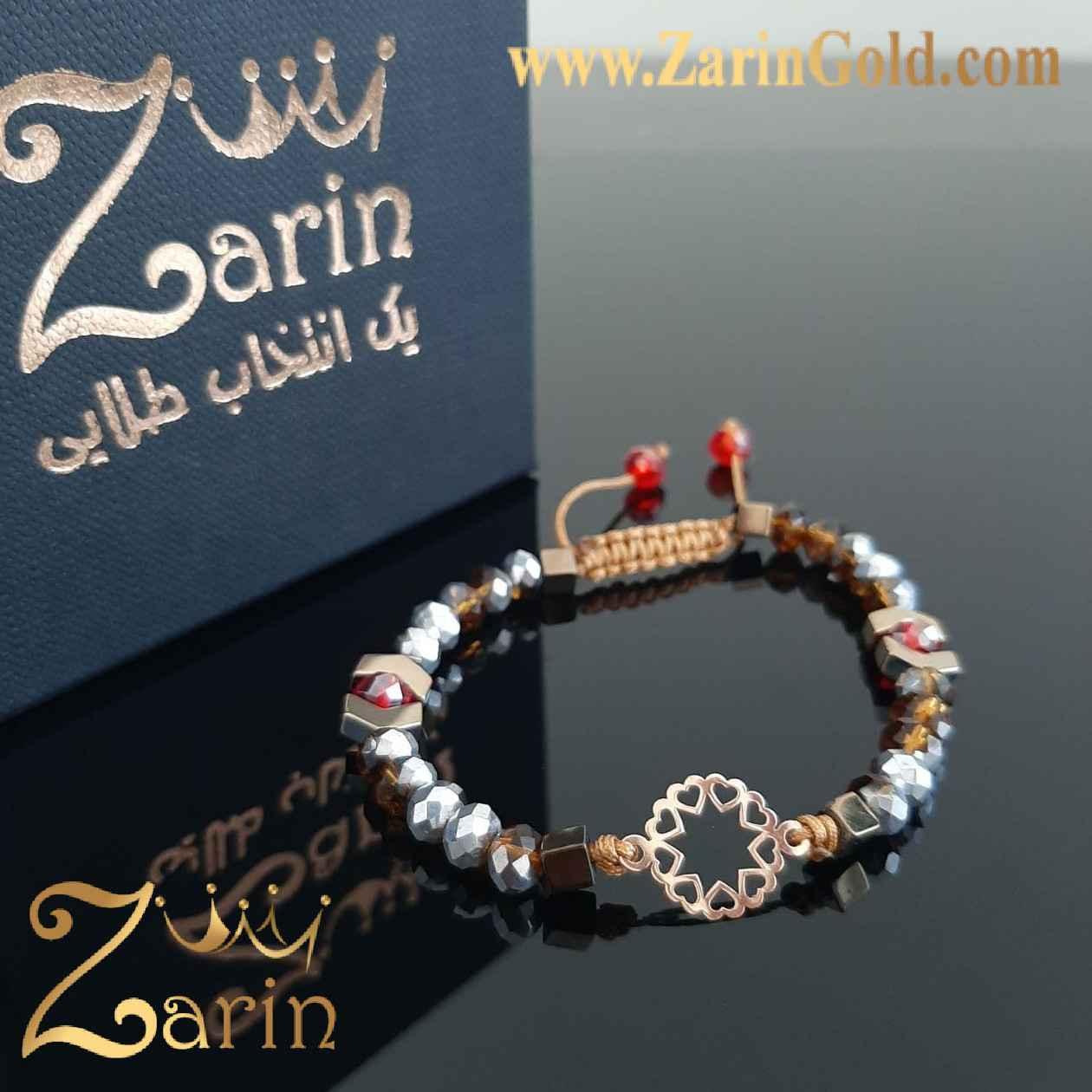 دستبند طلا نماد قلب با سنگ
