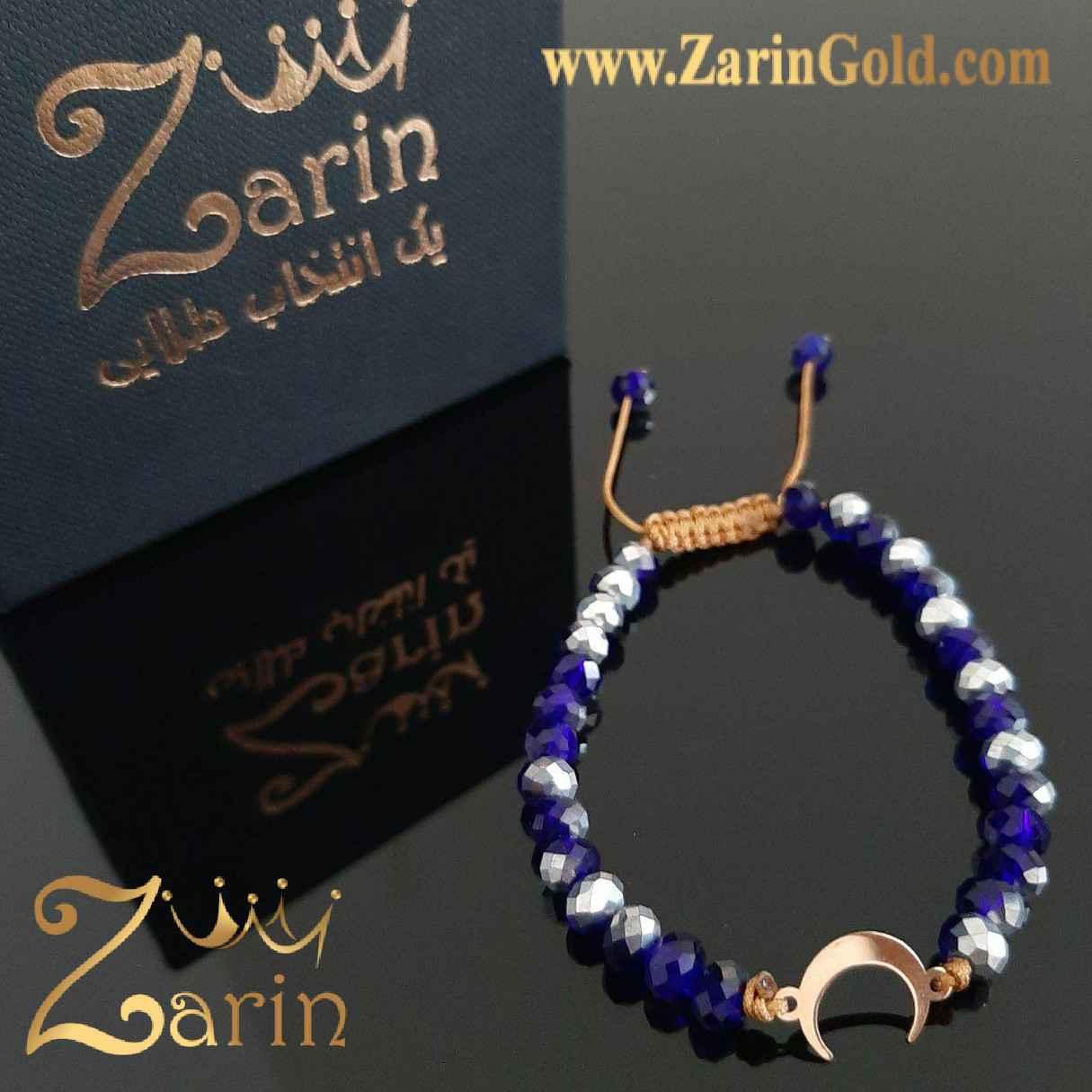دستبند طلا مدل هلال ماه با سنگ