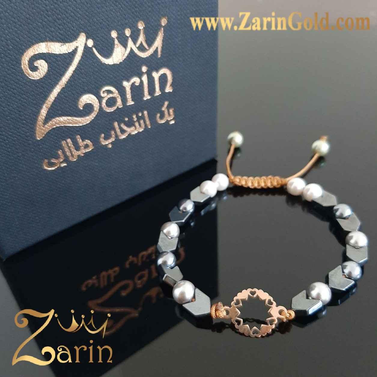 دستبند طلا نماد زئوس با سنگ