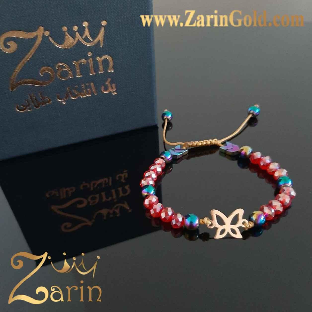دستبند طلا نماد باترفلای با سنگ