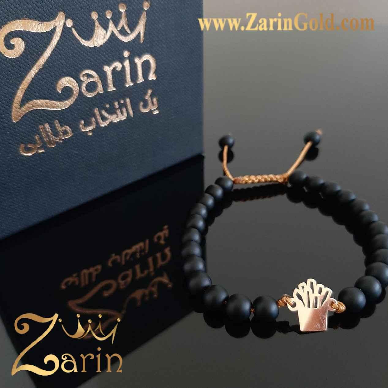 دستبند طلا نماد مدوسا با سنگ