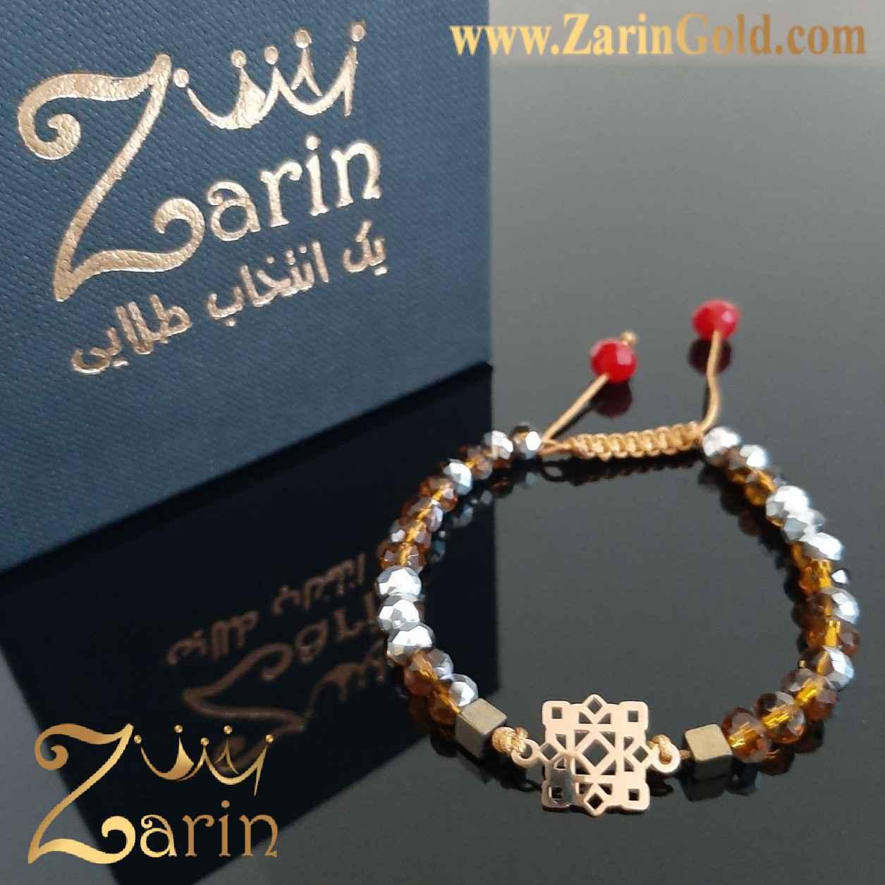 دستبند طلا طرح آتنا با سنگ