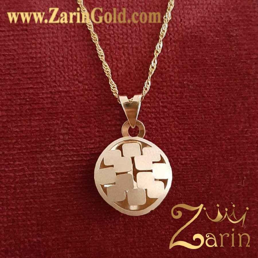 گردنبند سه بعدی طلا نماد مربع