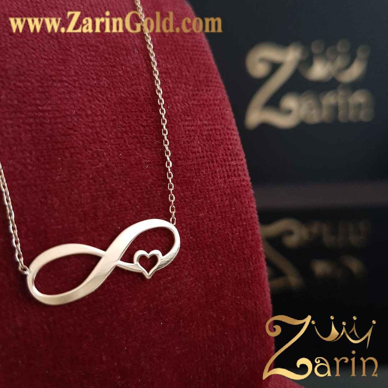 گردنبند طلا نماد بی نهایت قلب