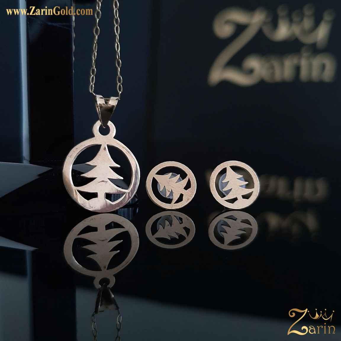 نیم ست طلا نماد کاج