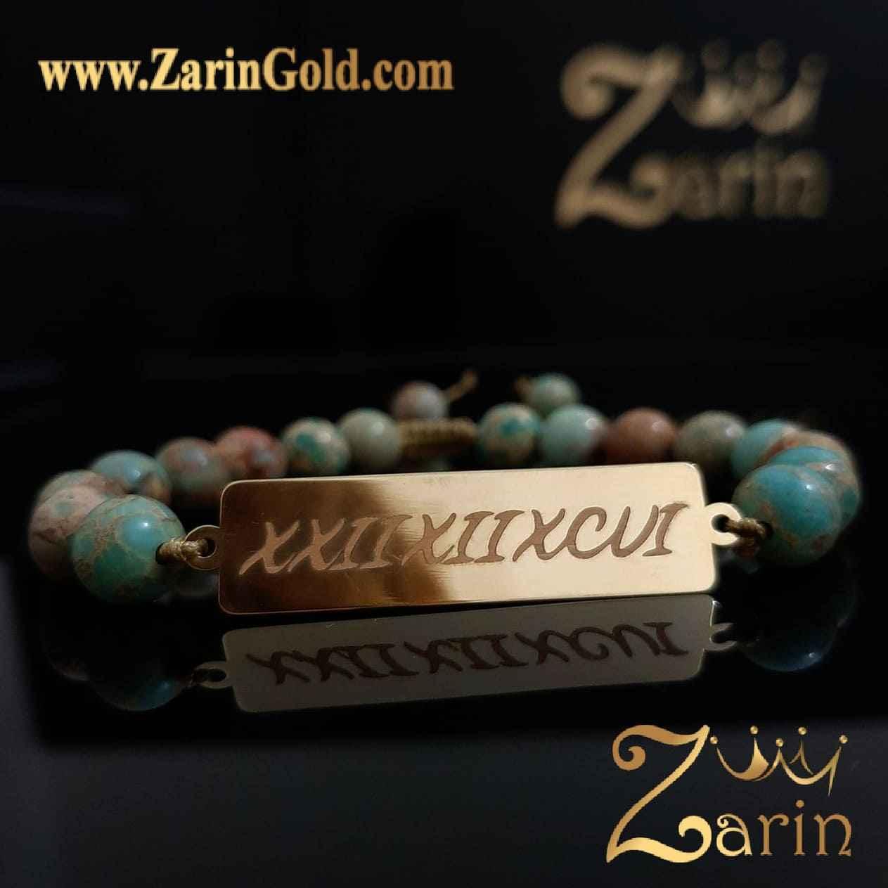 دستبند طلا طرح یونانی
