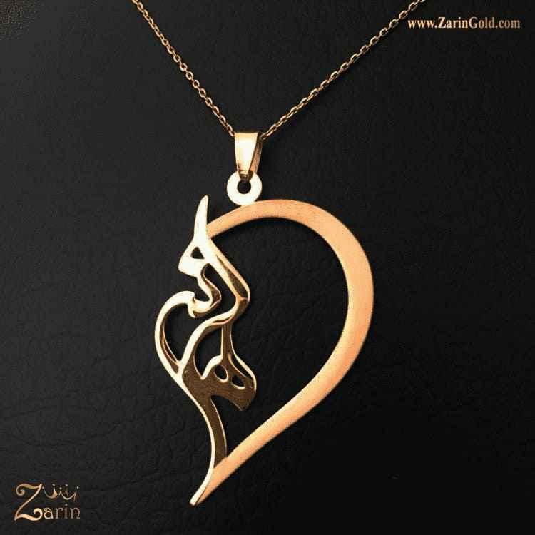 پلاک طلا اسم فارسی هانی