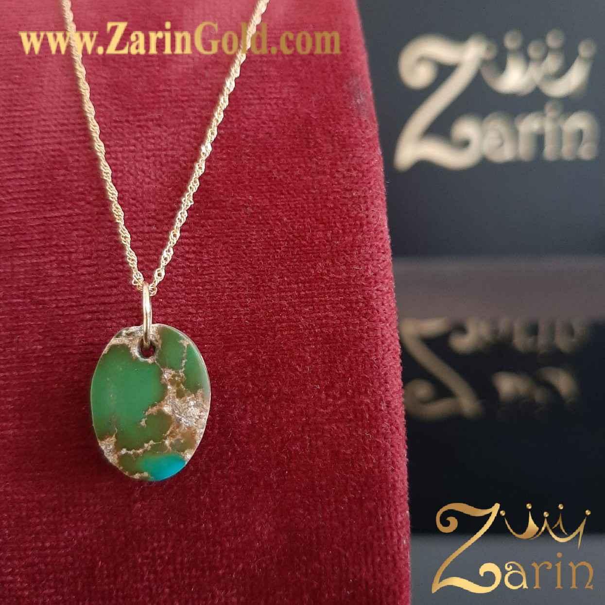 سنگ فیروزه اصل نیشابور با حلقه چه طلا