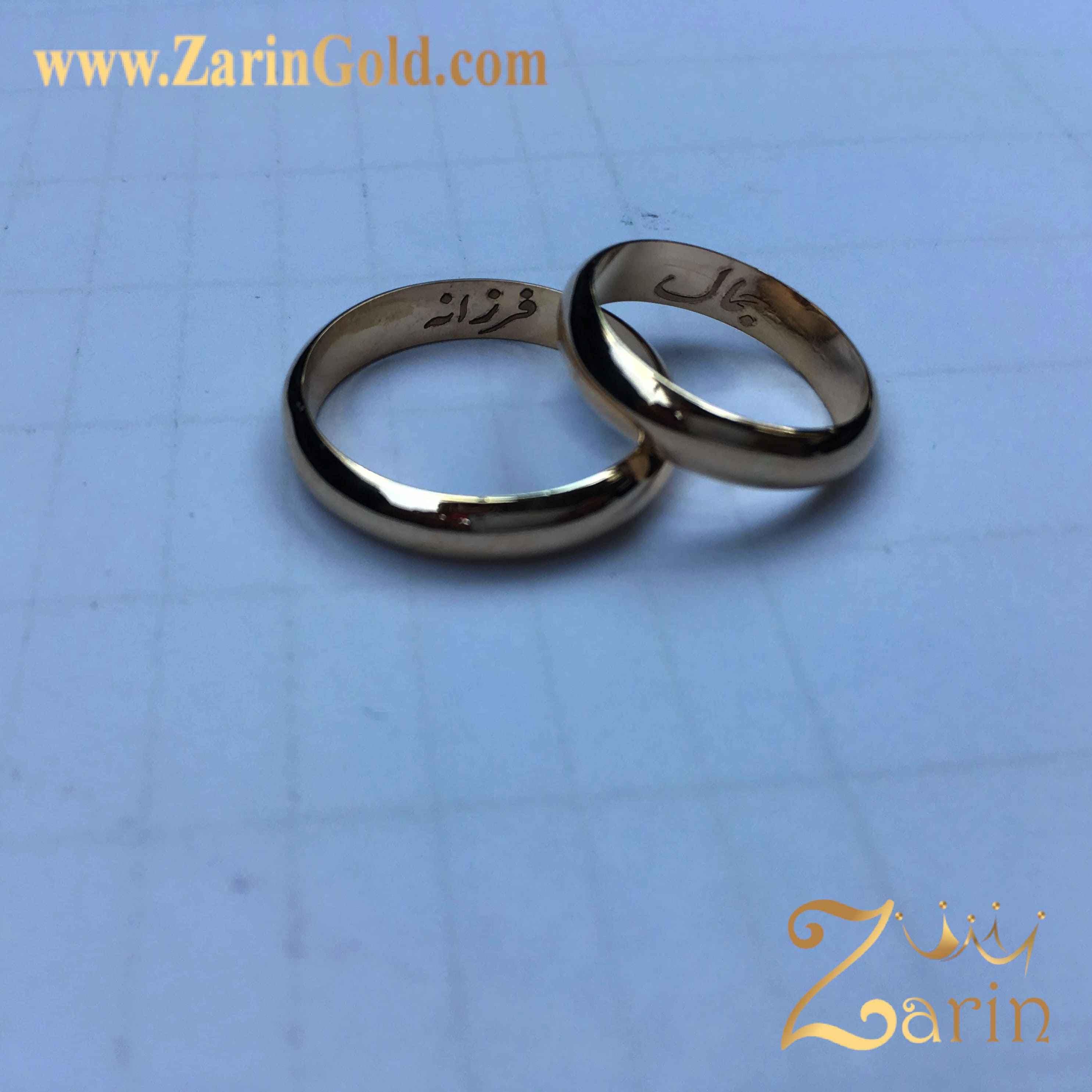 حلقه ازدواج و نامزدی با حک اسم