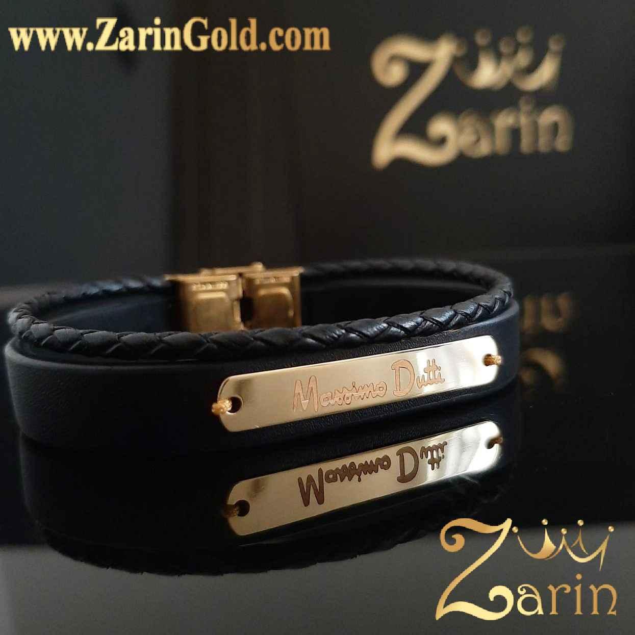دستبند طلا با حک ماسیمو دوتی
