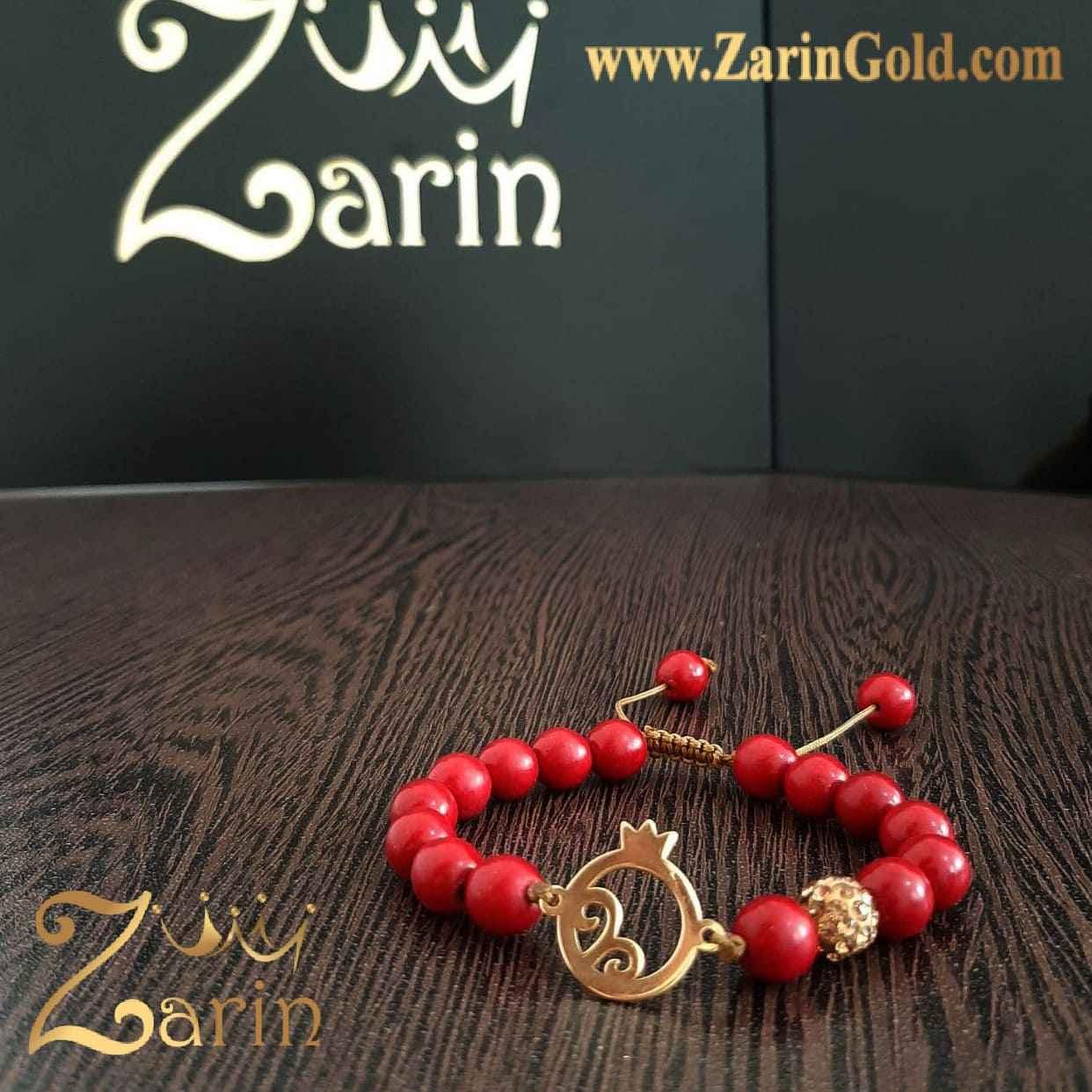 دستبند طلا طرح انار