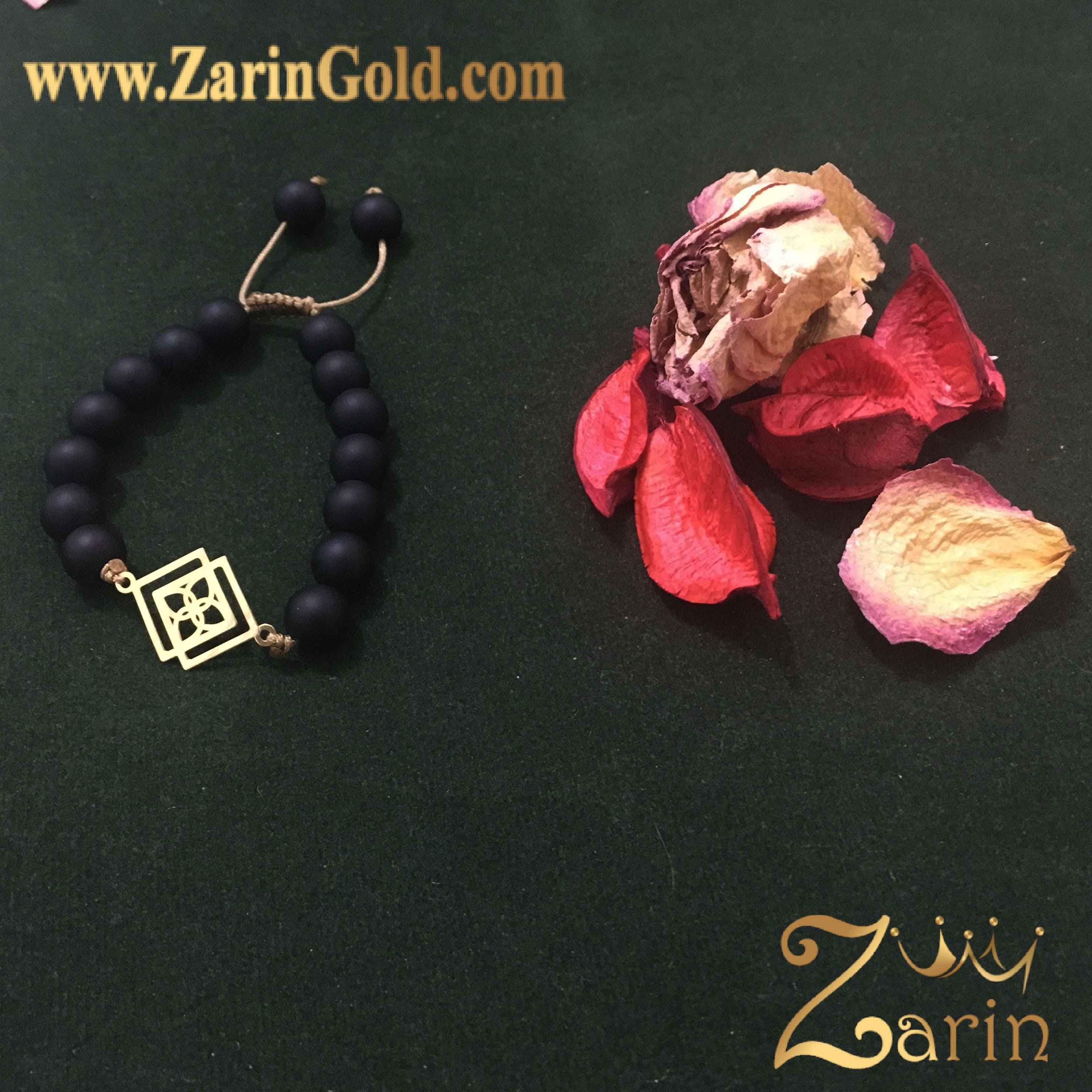 دستبند طلا طرح شکل هندسی