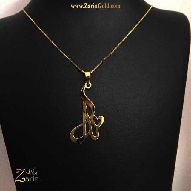 گردنبند طلا فارسی اسم ندا