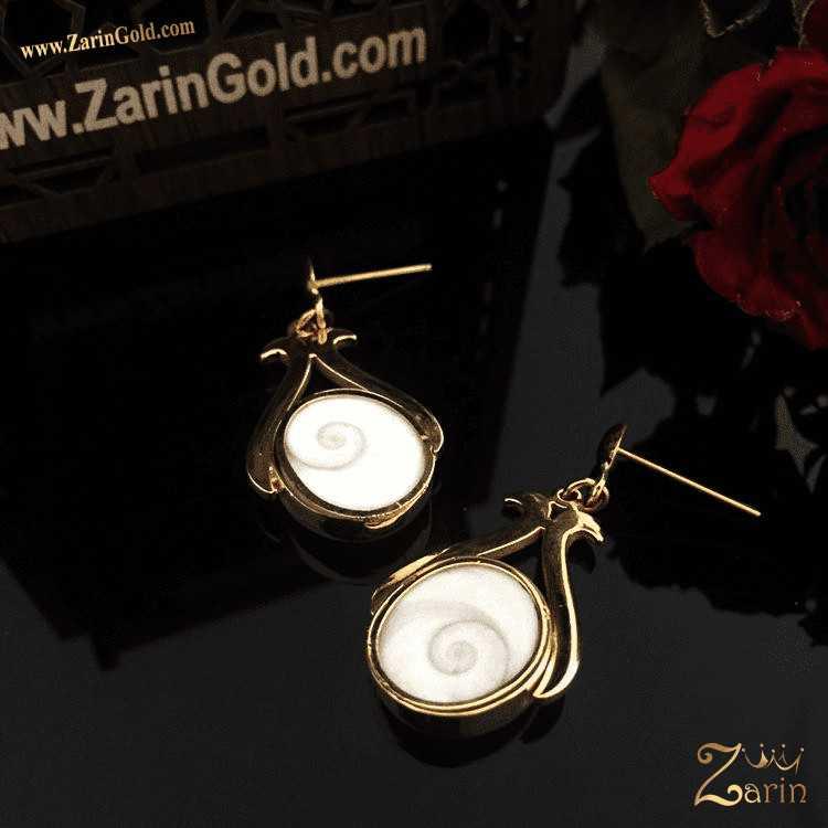 گوشواره طلا با سنگ قیمتی
