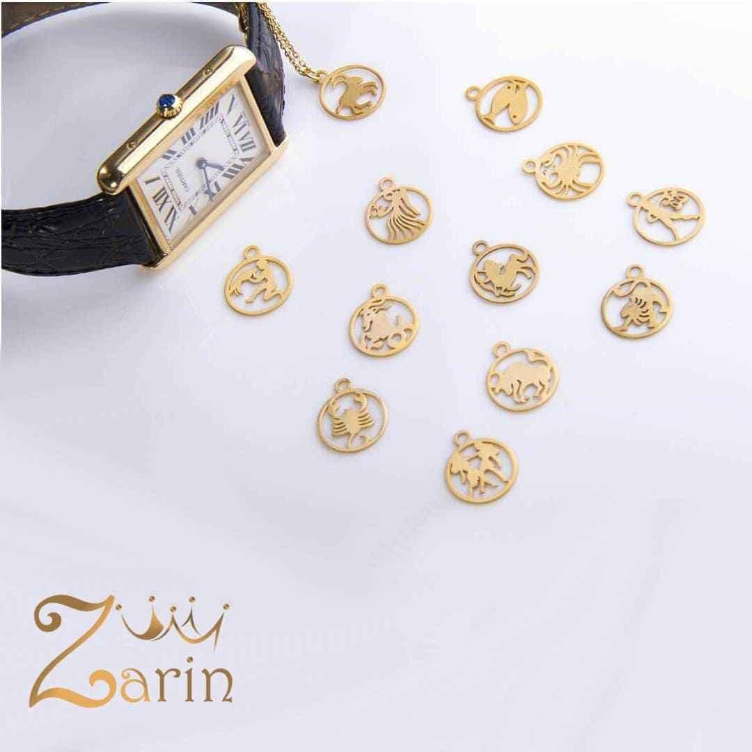 آویزهای ساعت طلا طرح ماه تولد