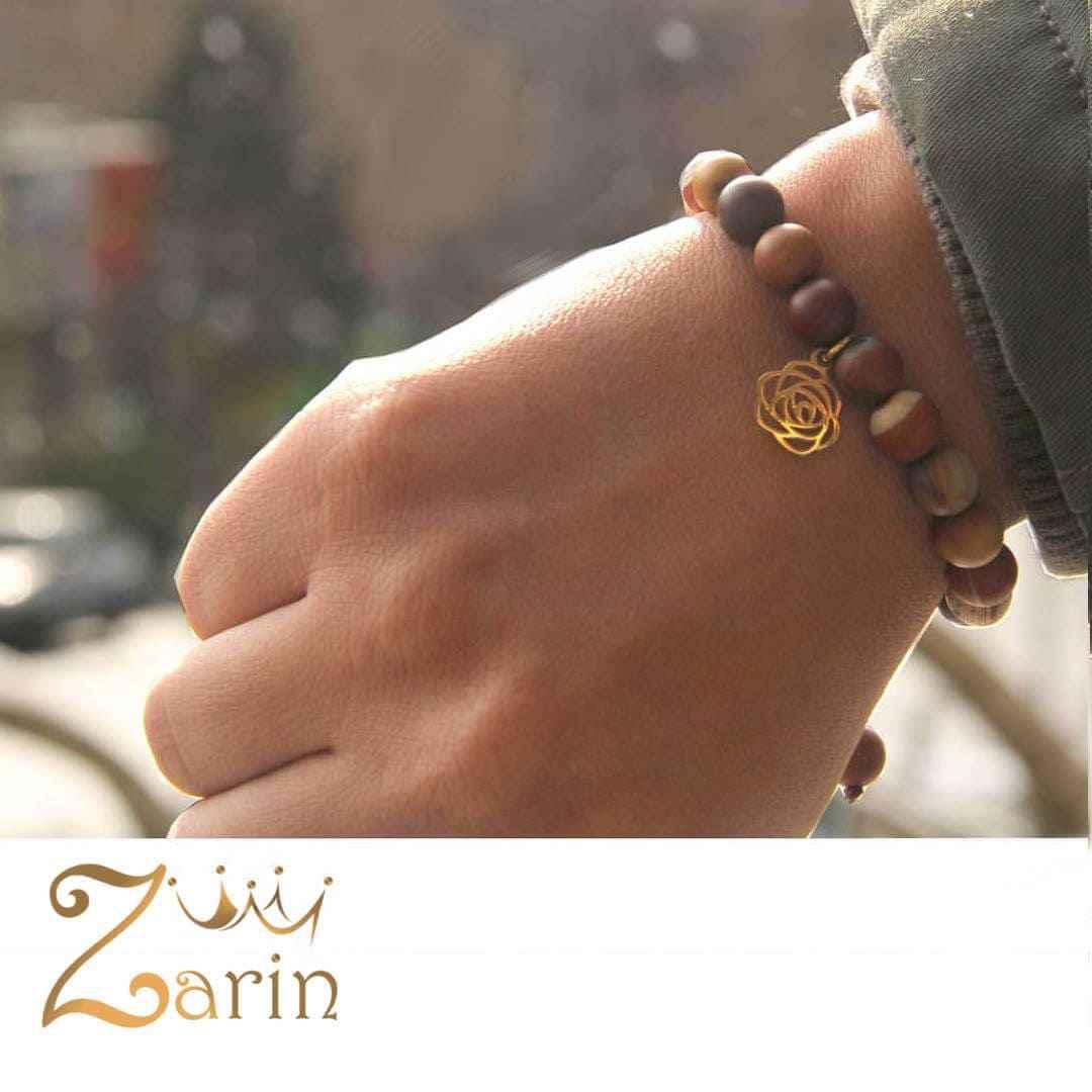 دستبند طلا طرح گل