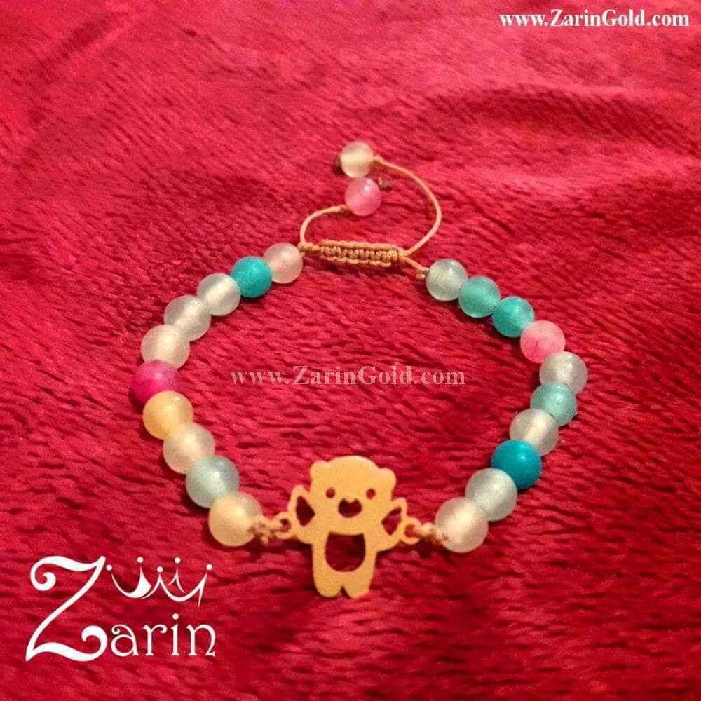 دستبند طلای خرس کودکانه