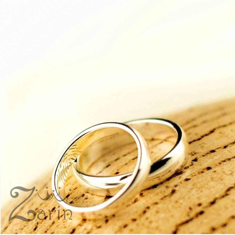 حلقه ازدواج با طرح اثر انگشت (تک)