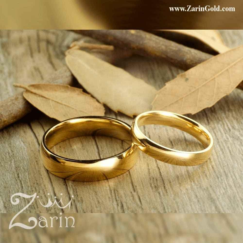 حلقه ازدواج و نامزدی ساده (تک)