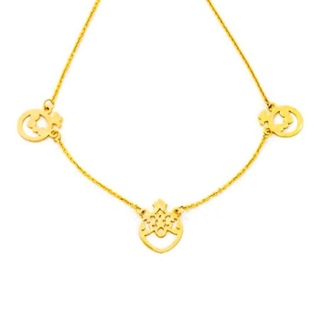 گردنبند طلا با طرح انار