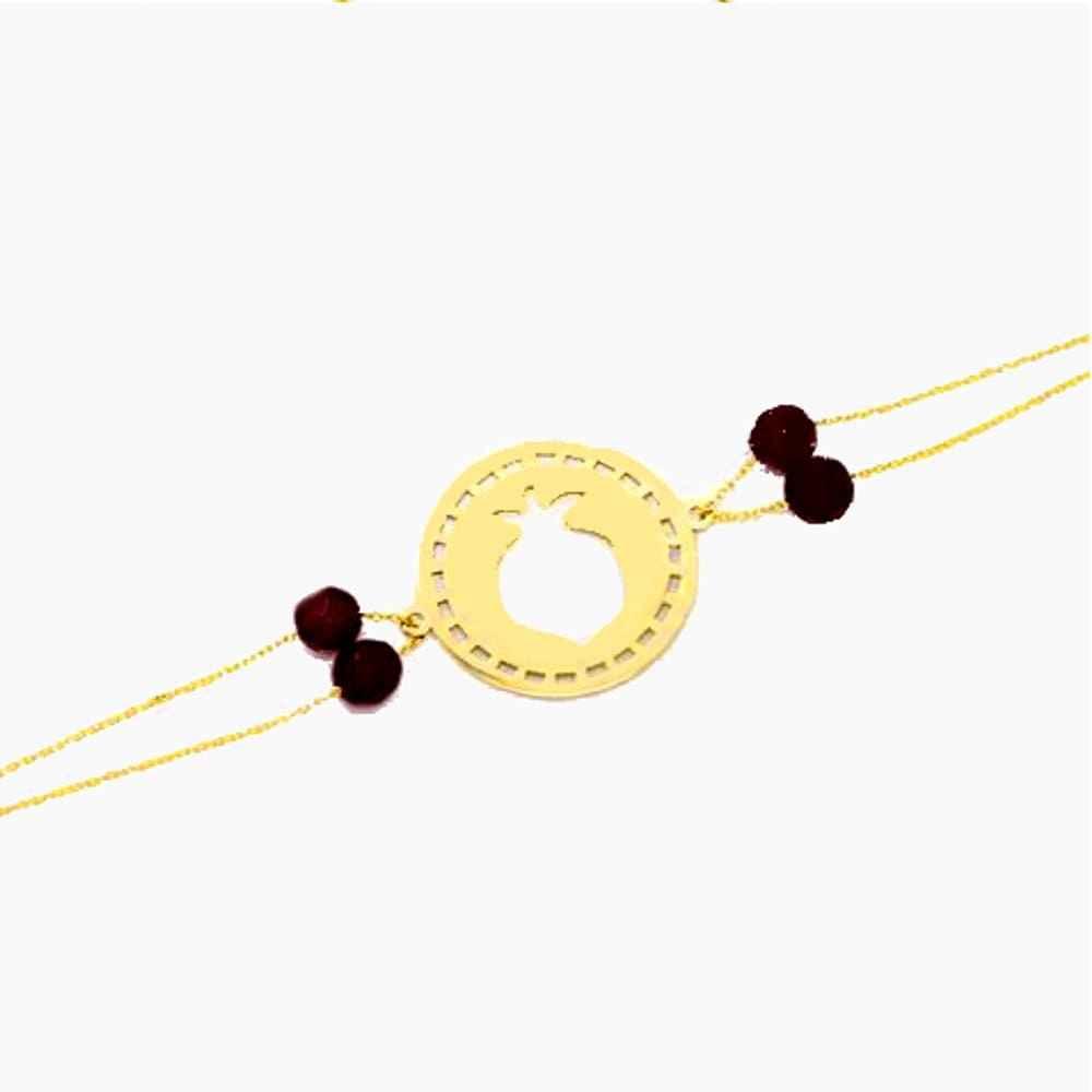 دستبند طلا طرح انار یلدا