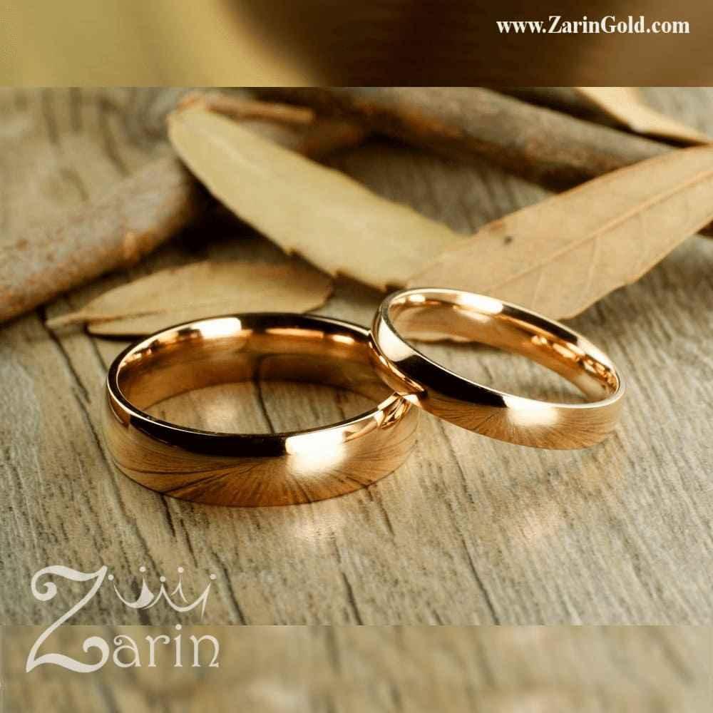 حلقه ازدواج و نامزدی رنگ رز گلد (تک)