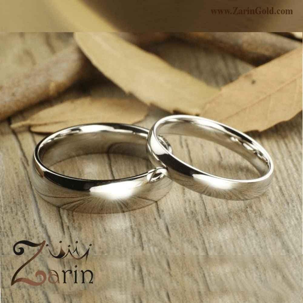 حلقه ازدواج و نامزدی طلا سفید (تک)
