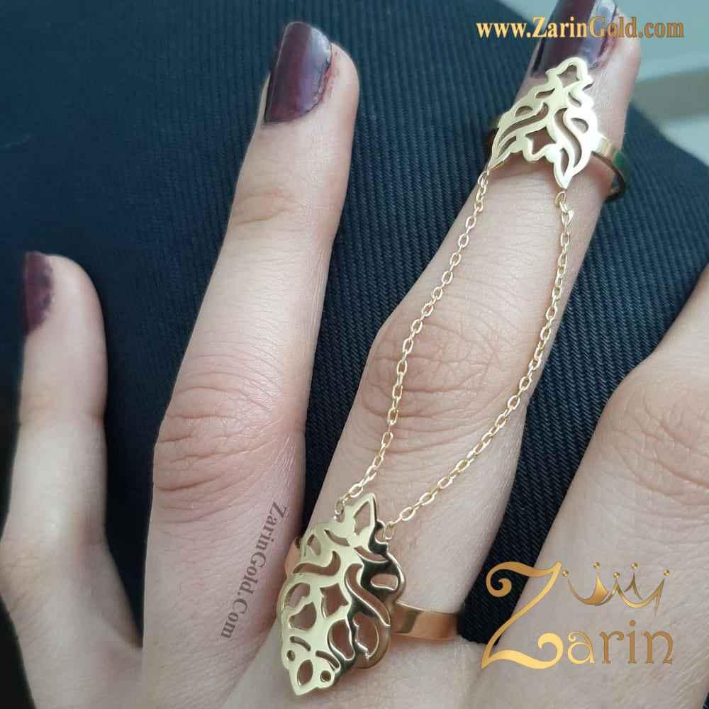 انگشتر دو تکه طلا