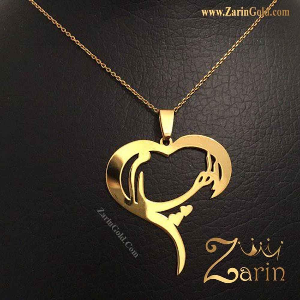گردنبند طلا اسم الهام با فریم