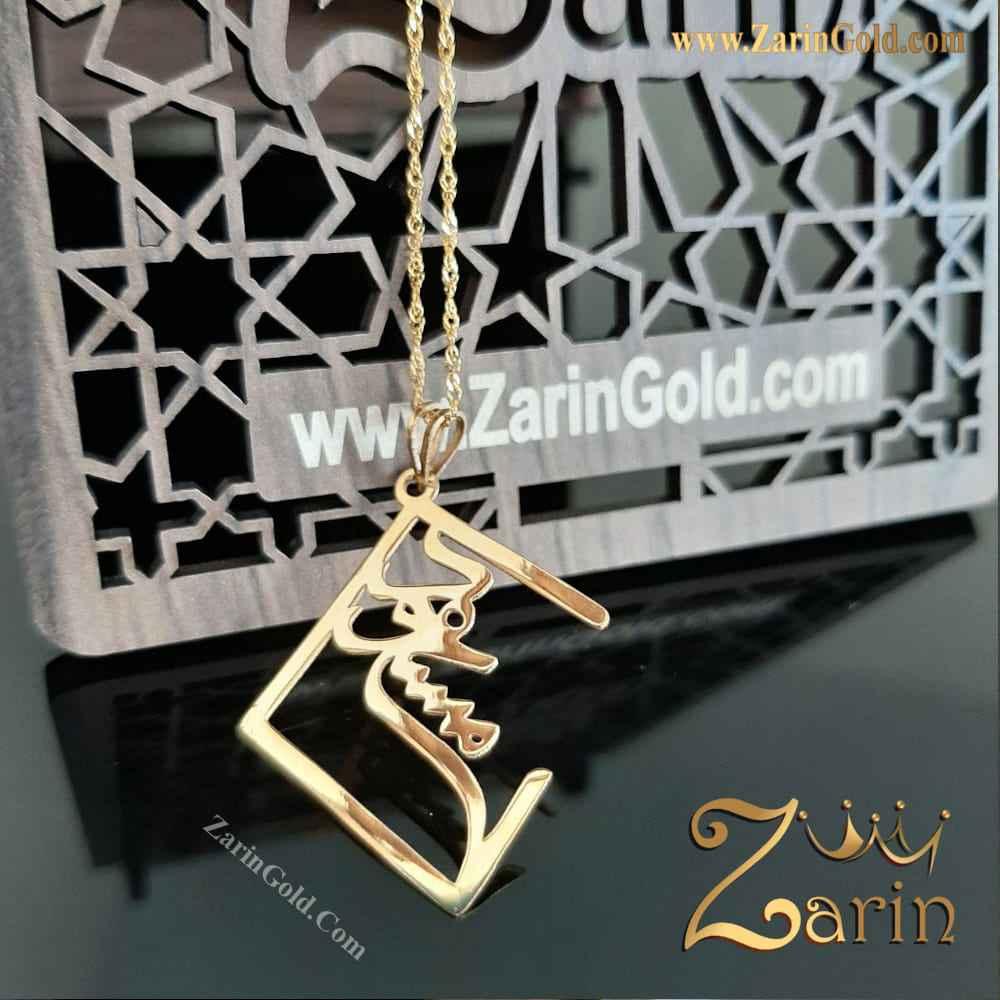 گردنبند طلا - مسعود با فریم شکسته