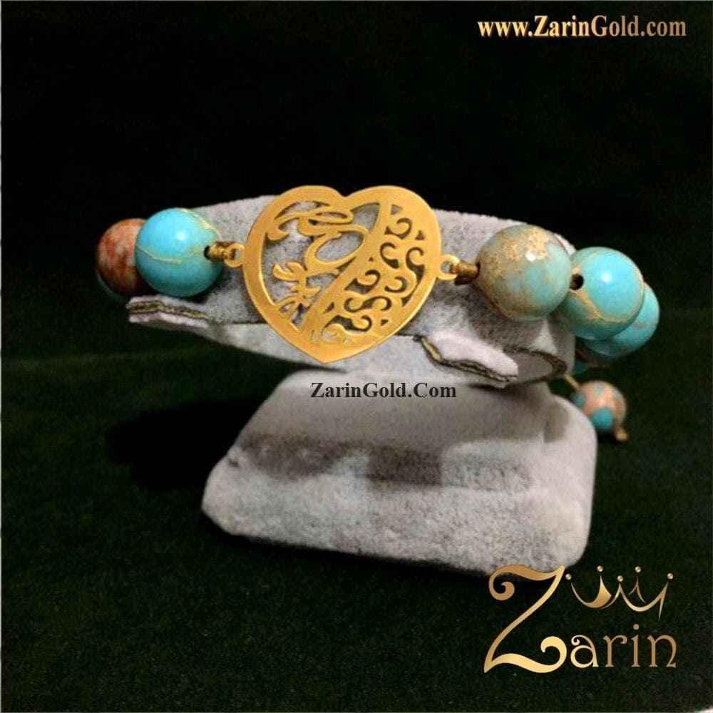 دستبند طلای سفارشی قلب