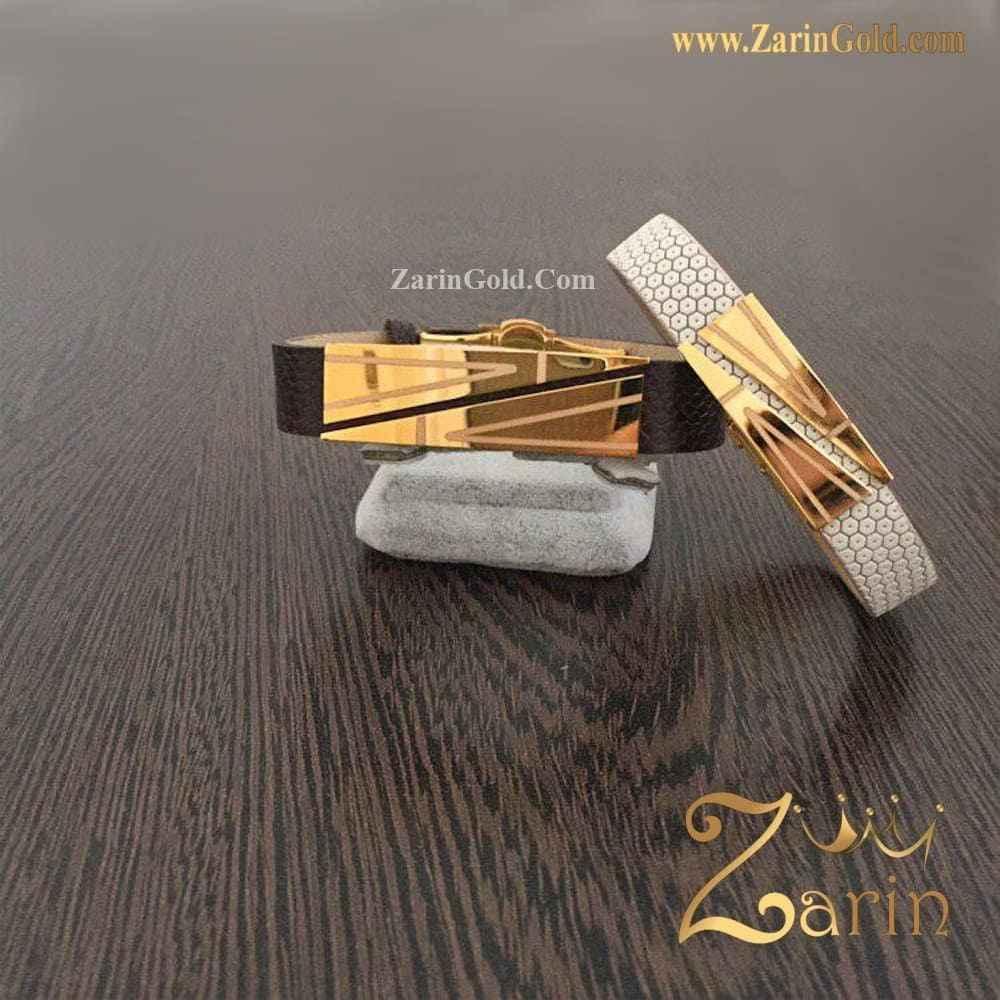 دستبند طلا طرح کات با حک سفارشی
