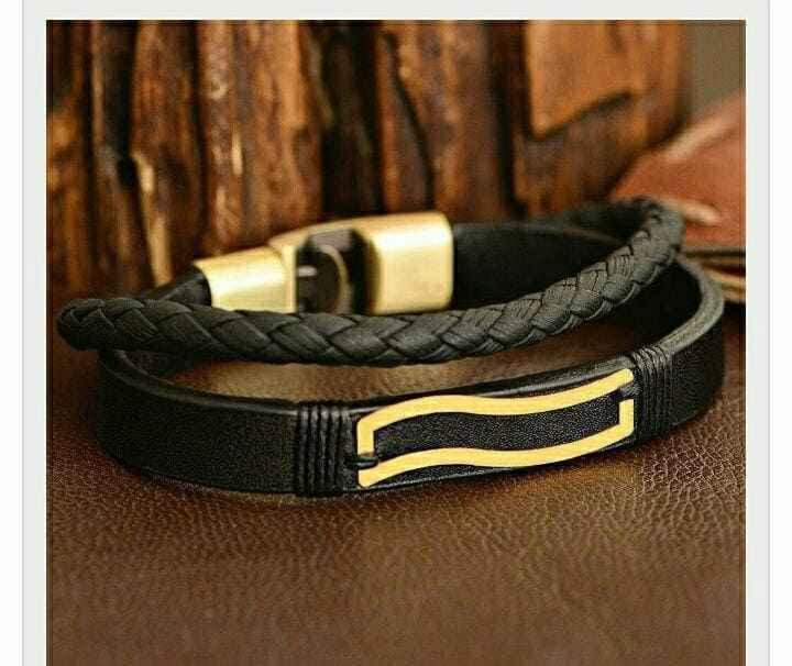 دستبند طلا طرح موج