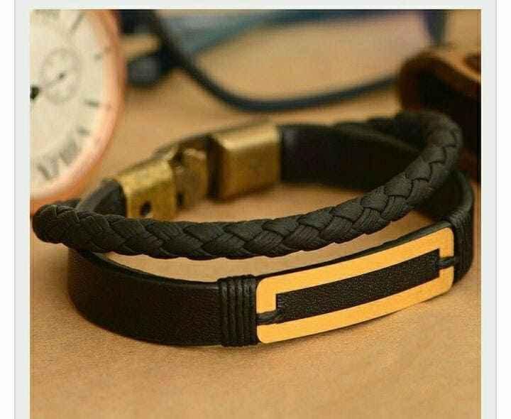 دستبند طلا طرح مستطیل