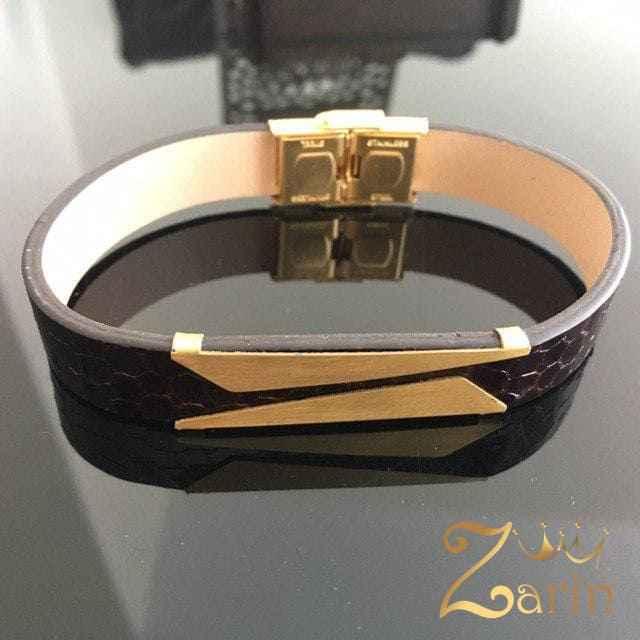 دستبند طلا طرح کات (مات)