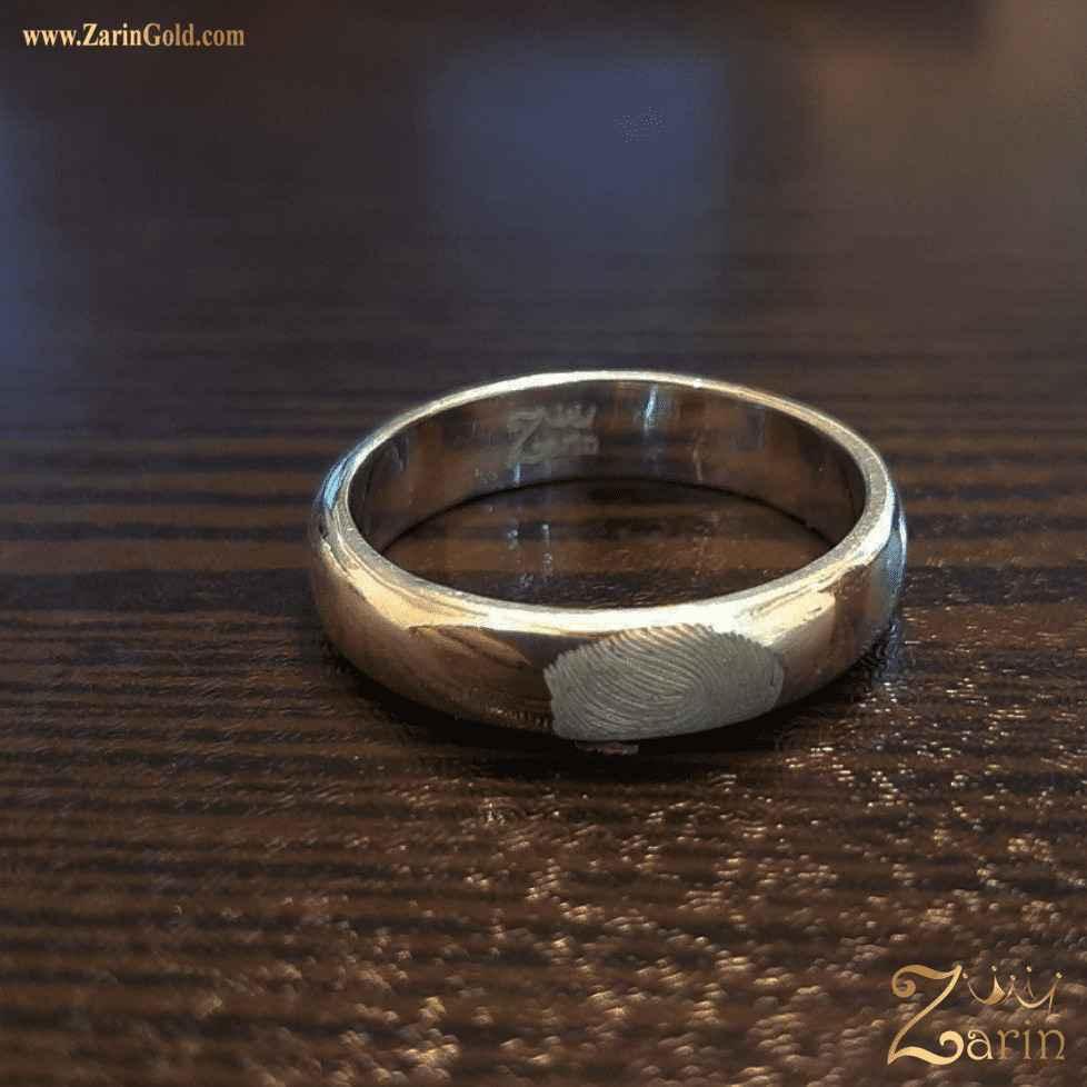 حلقه ازدواج و نامزدی نقره طرح اثر انگشت